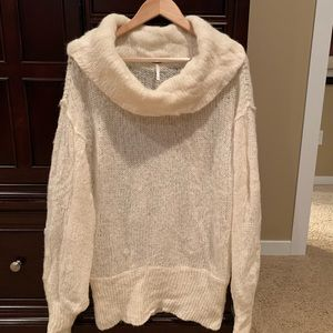 Free People lightweight, soft cowl neck sweater